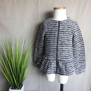 Gymboree Textured Knit Peplum Jacket